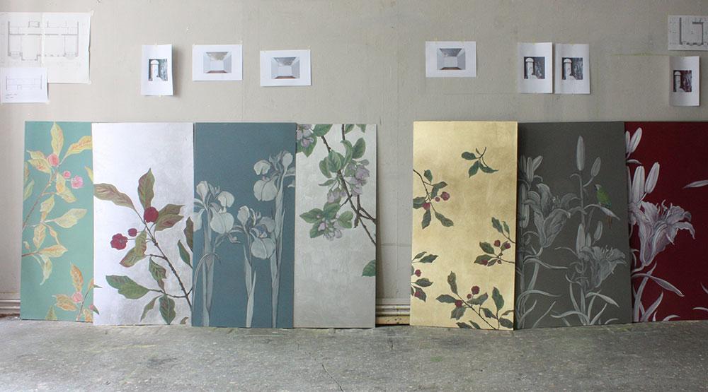 farbmuster, atelier wandlungen, wandidee, deko