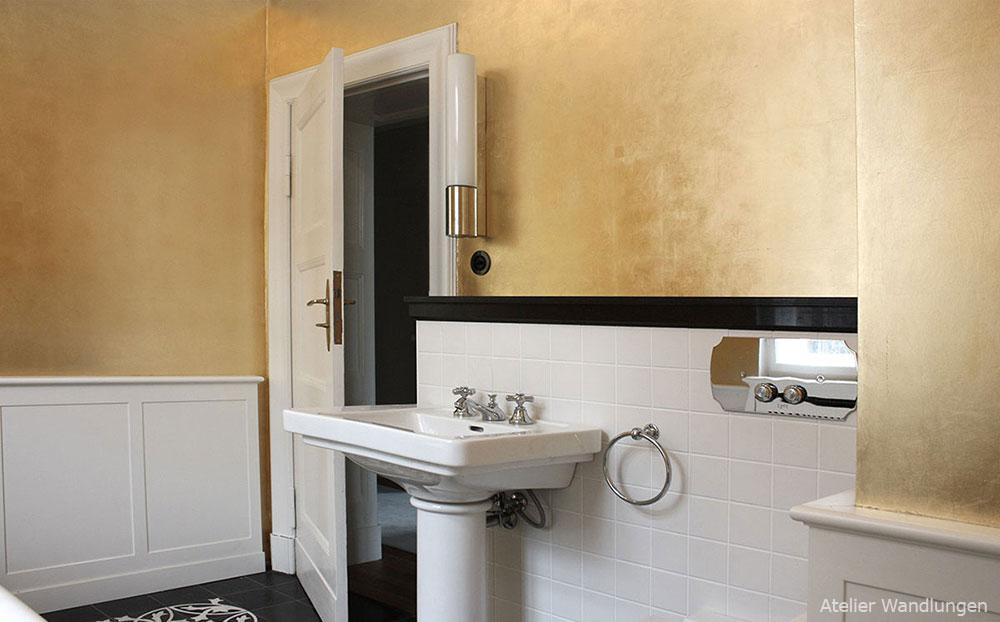 Blattgold, Badezimmer, elegant, luxus