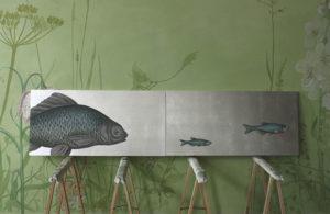Bild Fische auf Silber