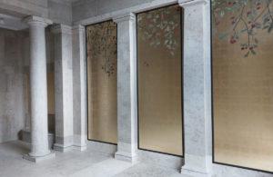 wandvergoldung atelier wandlungen berlin Pfaffenhuetchen goldwand