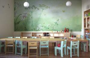 kindergarten libelle wandmalerei wandbespannung, leinwand, kinderzimmer, babyzimmer
