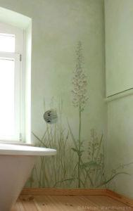 Malerei ,Badezimmer, lasurmalerei, inka gierden, atelier wandlungen, Fingerhut