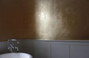 badezimmer blattgold vergoldung Atelier Wandlungen