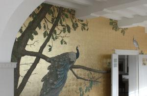 wandgestaltung blattgold Atelier Wandlungen