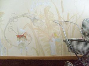 kinder wandmalerei atelier wandlungen berlin ocker farbe baby wandidee