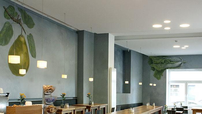 restaurantgestaltung, wandmalerei, atelierwandlungen, Gemüsemalerei