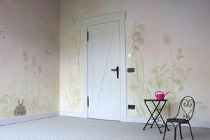 Kinderzimmer blumen malerei wallpainting atelier Wandlungen