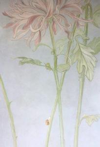 Kinderzimmer Blume malerei wallpainting atelier Wandlungen