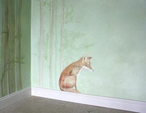 Kinderzimmer wald malerei wallpainting atelier Wandlungen