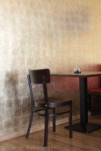 vergoldung, atelier wandlungen, radieschen, restaurant,berlin