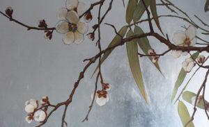 silber,kirschblüten, badezimmer, bathroom, decoration, atelier wandlungen, silver, bambu, bad, deko, trend, versilbern