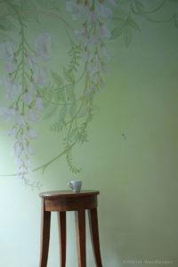 wandmalerei, atelier wandlungen, Glyzine, pflanzen