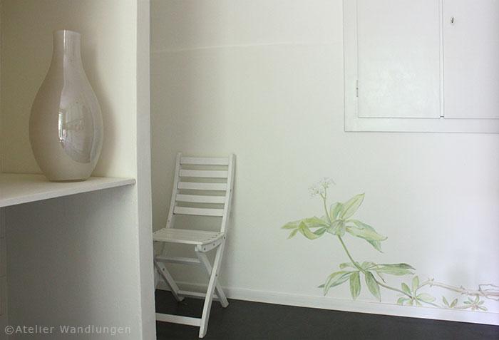 wandmalerei, atelier wandlungen, Waldmeister, pflanzen