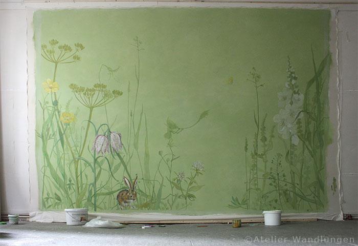 Bemalte leinwand f r ein kinderzimmer atelier wandlungen - Bemalte leinwande ...