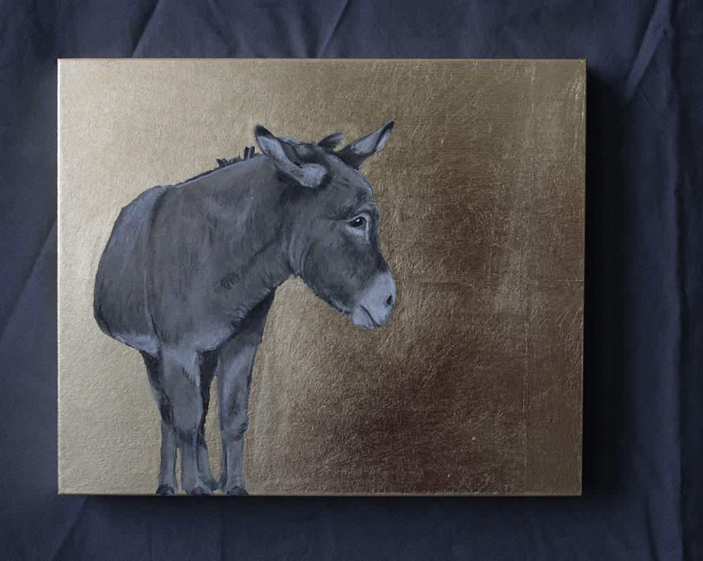 Bild mit Esel 25x30cm