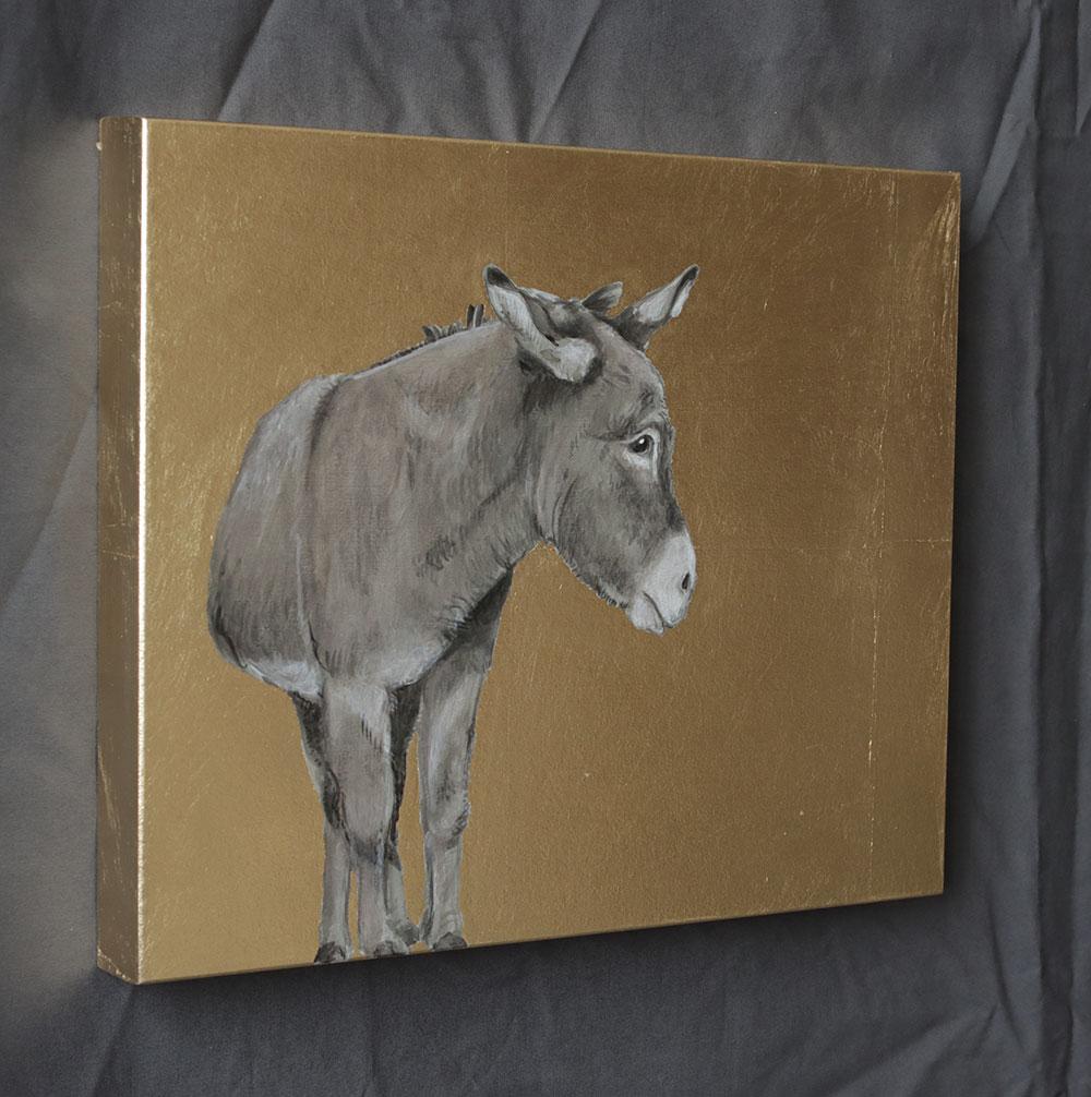 Bild Esel auf Gold
